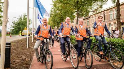 Холандија ја доби првата велосипедска патека во светот направен од рециклиран пластичен отпад