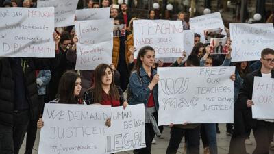 Протест на студентите на Универзитетот во Приштина