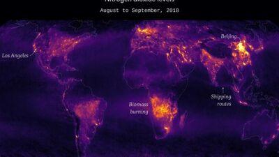 Сателитски снимки покажаа кои места на Земјата се најзагадени