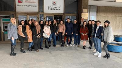 УЈИЕ: Студиска посета во Централниот регистар – Скопје