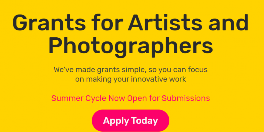 INNOVATE GRANTS FOR ARTISTS AND PHOTOGRAPHERS